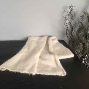 Angora wool scarf